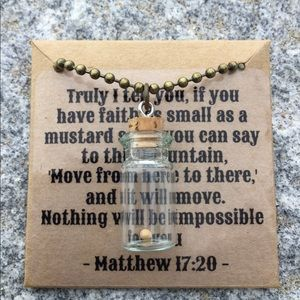 Jewelry - Faith As Small As A Mustard Seed Necklace